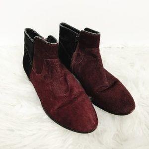 Rebecca Minkoff Color Block Fur Ankle Booties